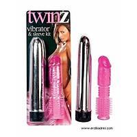 Penis Kýlýflý Twinz Sleeve Vibratör Set