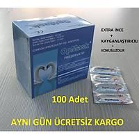 100 Adetli Ýnce Kayganlaþtýrýcýlý Prezervatif Kondom