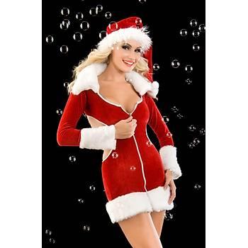 Kadife Noel Kadýn Kostümü
