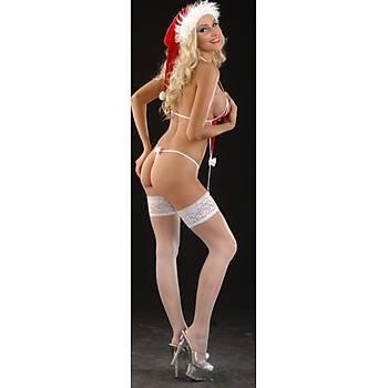 Jartiyerli Transparan Noel Kostüm