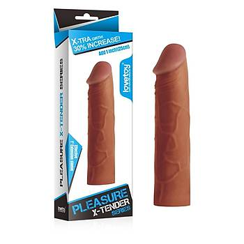 Et Dokulu Çikolata Renk Penis Kýlýfý (damarsýz)