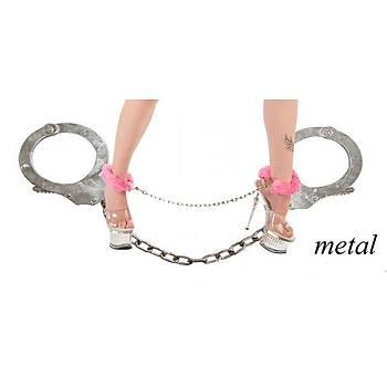 Peluþ Metal Ayak Kelepçesi (siyah)