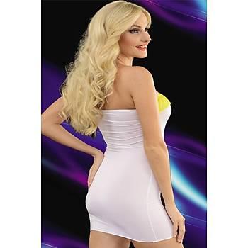 Süper Mini Transparan Elbise