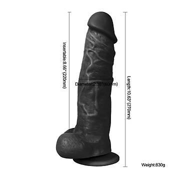 Realistik Büyük Kalýn Zenci Penis 27cm