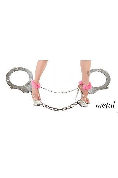 Peluþ Metal Ayak Kelepçesi (Kýrmýzý)