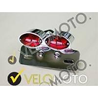 615-307 çift stoplu dekoratif plakalýk motorsiklet plakalýk choopper plakalýk