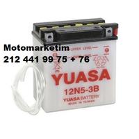Yuasa 12N5-3B akü Yamaha T 105 E Crypton ve T 110 Crypton aküsü