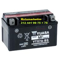 Yuasa YTX7A-BS akü Mondial 150 HS aküsü 2 YIL GARANTÝLÝ