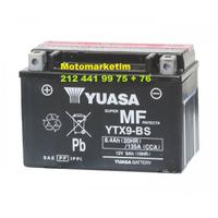 Yuasa YTX9-BS akü Suzuki XF 650 Freewind aküsü 2 YIL GARANTÝLÝ