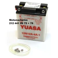 Yuasa 12N12A-4A-1 akü bakým gerektirmeyen japon aküsü 2 YIL GARANTÝLÝ