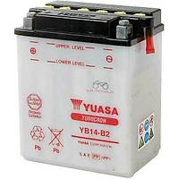 Yuasa YB14-B2 akü bakým gerektirmeyen japon aküsü 2 YIL GARANTÝLÝ