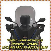 2014-2017 Yamaha X-Max 400 füme uzun cam 65cm, Xmax 400 Ön Cam 14-17