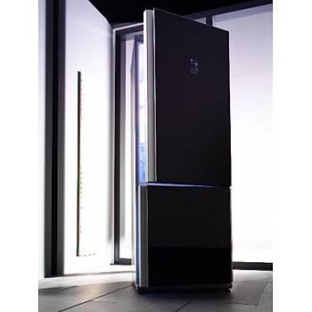 MKND 3880 B Blomberg Kombi No Frost 520Lt. Siyah Cam Buzdolabý
