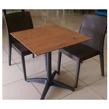 Siena Starlux Rattan Kolsuz Sandalye Kahve