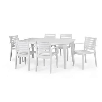 Futura Allibert Camsýz Masa, Beyaz 94*165