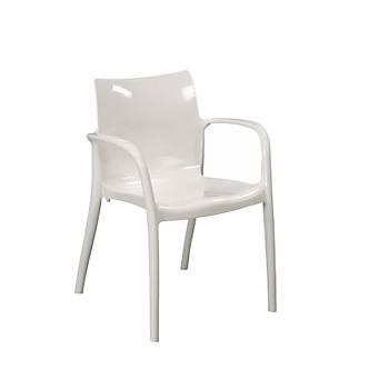Pedro Parlak Beyaz Kollu Sandalye
