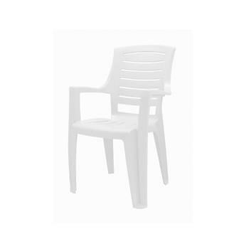 Yonca Plastik Kollu Sandalye Beyaz