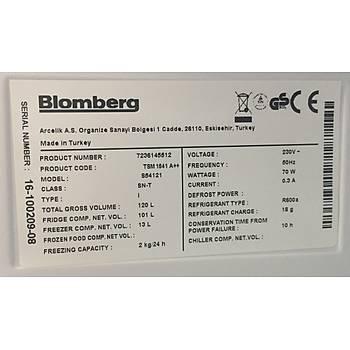 TSM 1541 Blomberg Statik 120Lt. Mini Buzdolabý