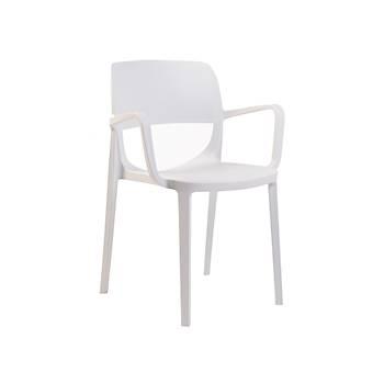 Bella Rainbow Plastik Kollu Sandalye Beyaz