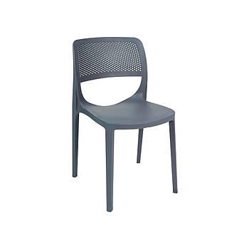 Mila Rainbow Plastik Kolsuz Sandalye Antrasit