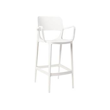 Bella Rainbow Plastik Kollu Bar Sandalyesi Beyaz
