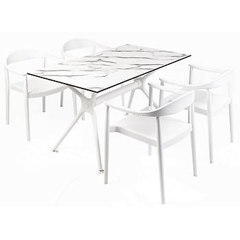 Kennedy Delta Plastik Kollu Sandalye Beyaz