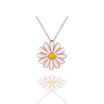Papatya Çiçek  Gümüþ Kolye  925 Ayar Rose Kaplama