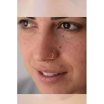 Gümüþ Halka Burma Sarmal Hýzma Burun Piercing Nose Ring