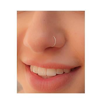 Gümüþ Halka Toplu Hýzma Burun Piercing Nose Ring