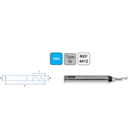 3,0 x 12 x 60, d2=8 mm ✔ HSS Freze, Z=1, Alüminyum Parmak Freze, Izar