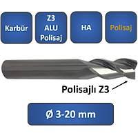 3,0 x 10 x 50, d2=6 mm ✔ Karbür Freze, Z=3, Polisajlý, ALU