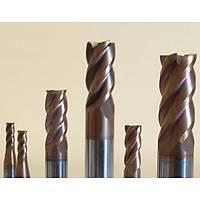 6x15x50 - d2=6 mm | HPC Karbür Freze, Chatter 35/38°, Z=4, TiSiN
