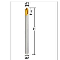 Ø 12,00x25x205 mm - HSS NC Punta Matkap ucu, 90°, TIN, Uzun