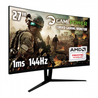 27 GAMEPOWER GPR27C144 CURVED 1ms 144Hz DP1.2 HDMI DVI-D AUDIO FreeSync ÖLÜ PIKSEL