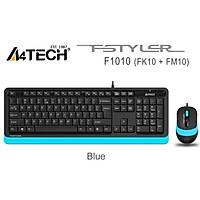 A4 Tech F1010 MM Klavye Mouse Set Mavi USB