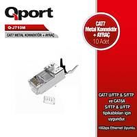 Q-PORT Q-J710M CAT7 KONNEKTOR VE AYRAÇ 10 ADET