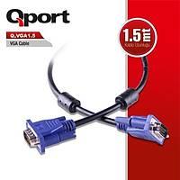 Qport Q-Vga1.5 15 Pin Fitreli 1,5 Metre Vga Kablo