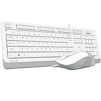 A4 Tech F1010 MM Klavye Mouse Set Beyaz USB