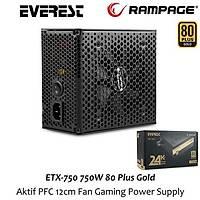 Rampage ETX-750-1 750W 80+ Gold Güç Kaynaðý