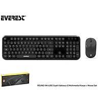 Everest Round KM-6282 Kablosuz Klavye+Mouse Siyah