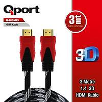Qport Q-HDMI3 3m Hdmi Kablo