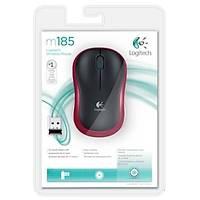 Logitech M185 Kablosuz Mouse Kýrmýzý 910-002237