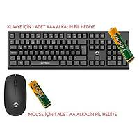 Everest KM-2510 Kablosuz Klavye+Mouse Siyah