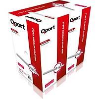 Qport Q-CAT6 CAT6 305M UTP 23Awg Kablo Gri