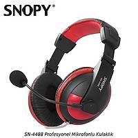 Snopy SN-4488 Mikrofonlu Kulaklýk Siyah