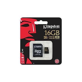 Kingston SDCG/16GB 16 GB SDHC Class3 U3 Uhs-I microSD Hafýza Kartý