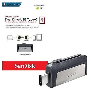 Sandisk SDDDC2-016G-G46 16 GB Ultra Dual Drive USB 3.2 Type C Flash Bellek