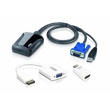 Aten CV211CP Laptop USB to VGA HDMI DISPLAY PORT Konsol Adaptörü Kiti