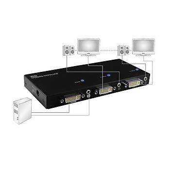 Digitus DS-41211 2 Port DVI 25+4 1 Pc 2 Monitör 1920X1080  Video Ve Ses DVI Çoklayýcý Spliter