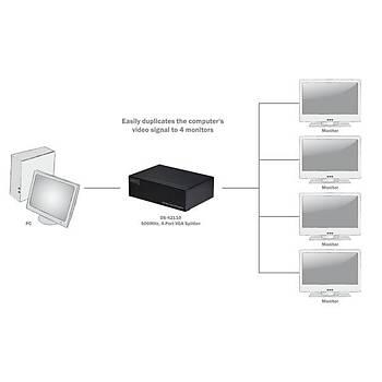 Digitus DS-42110 4 Port VGA 2048x1536 dBi 500Mhz VGA Spliter Görüntü Çoklayýcý